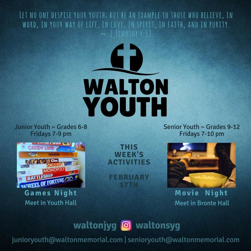 Youth Group Promo - Feb 17 @ Walton United Church, Oakville, Ontario
