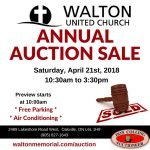 Auction 2018 @ Walton United Church, Oakville, Ontario