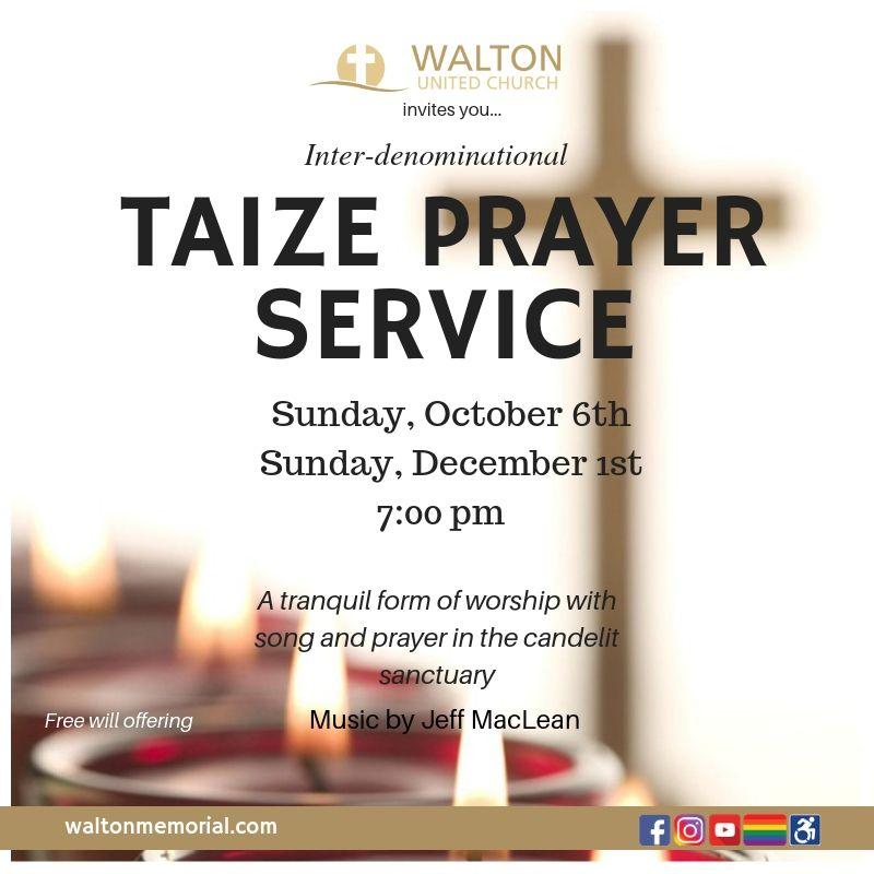 Interfaith Taize Prayer - Walton United Church