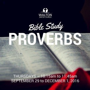 Bible Study Fall 2016 @ Walton United Church, Oakville, Ontario