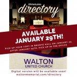 2016 Directory @ Walton United Church, Oakville, Ontario