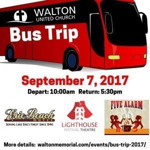 Bus Trip 2017 @ Walton United Church, Oakville, Ontario