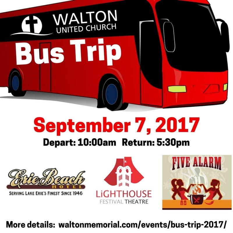 Bus Trip 2017 @ Walton United Church, Oakville, Ontario