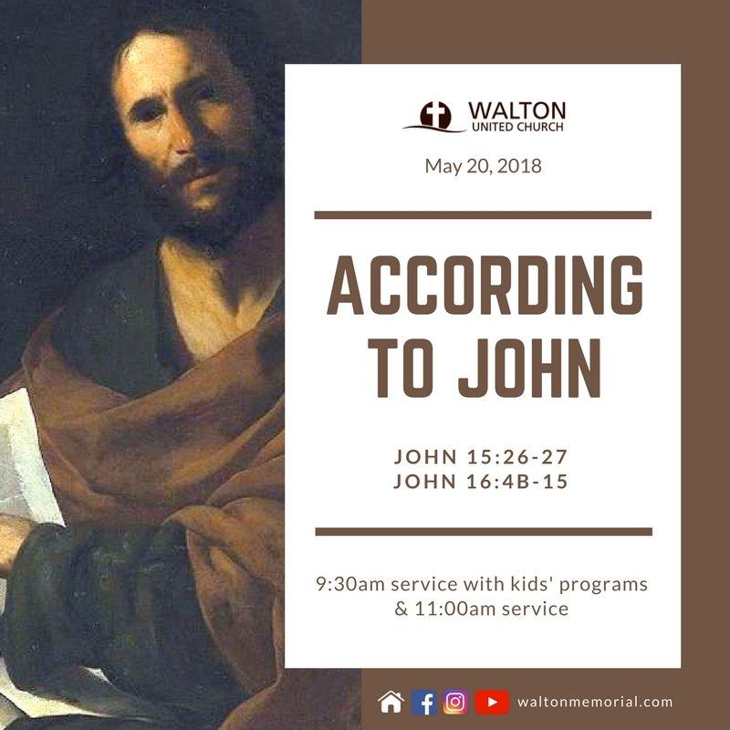 According to John @ Walton United Church, Oakville, Ontario