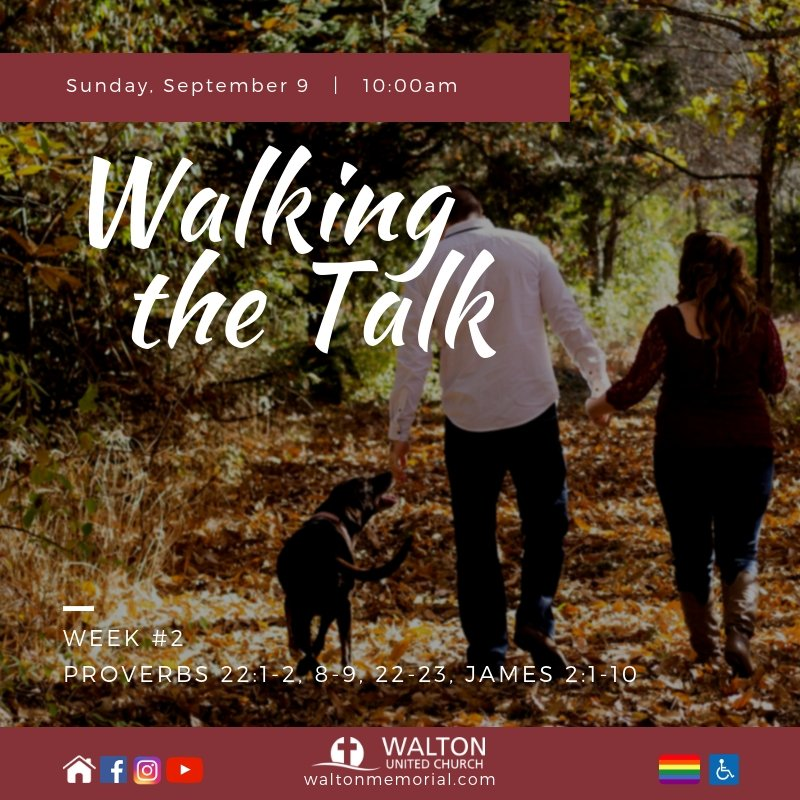 Walking the Talk week 2 @ Walton United Church, Oakville, Ontario