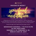 Spiritual Meditation @ Walton United Church, Oakviile, Ontario