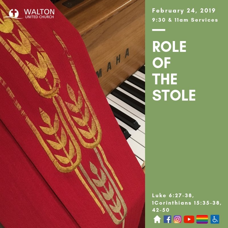 Role of the Stole @ Walton United Church, Oakville, Ontario