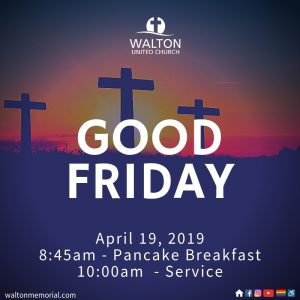 Good Friday Pancake Breakfast at Walton United Church, Oakville, Ontario