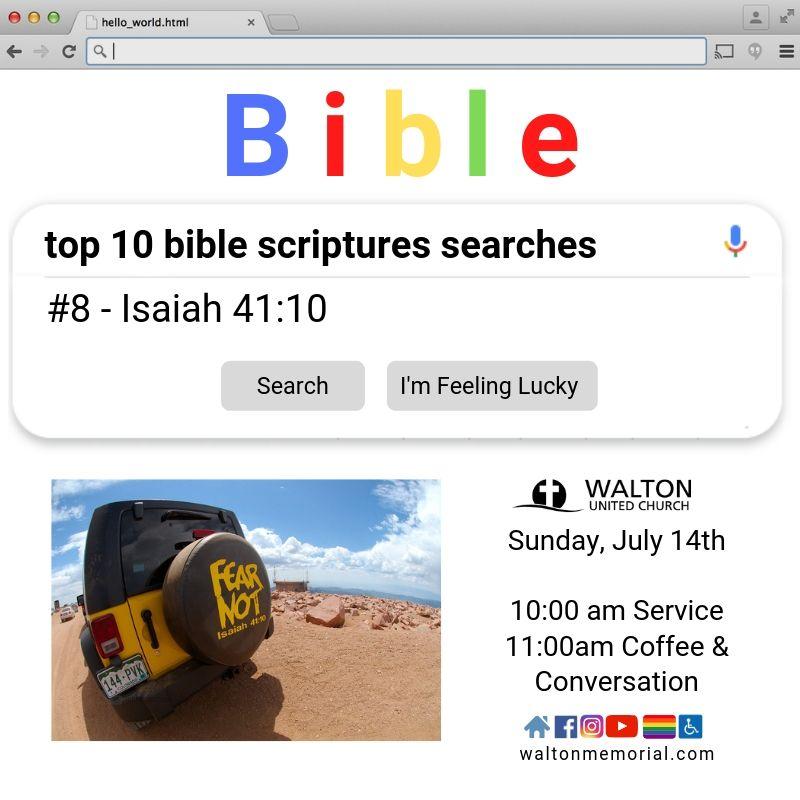 Top 10 Scripture Searches - Walton United Church